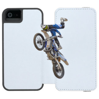 Motocross Extreme Tricks Wallet Case For iPhone SE/5/5s