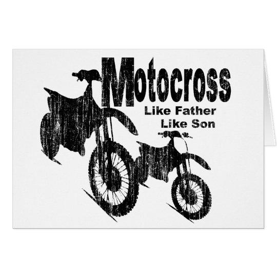Motocross Father/Son Card