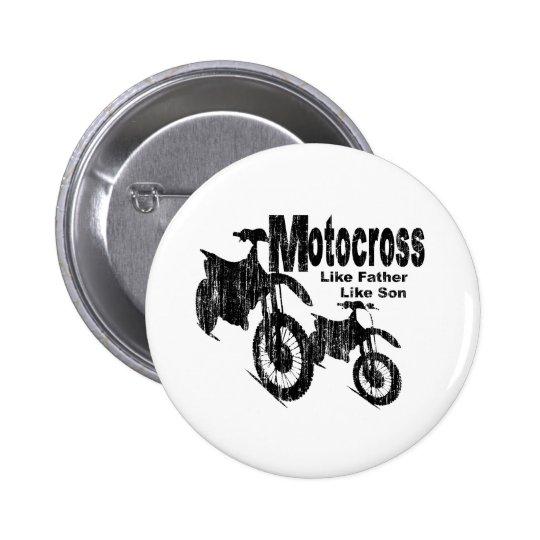 Motocross Father/Son Pinback Button