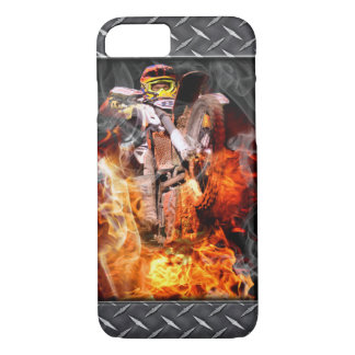 Motocross fire and smoke iPhone 7 case