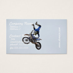 Motocross Flying High Business Card at Zazzle