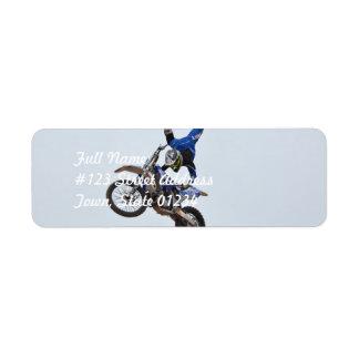 Motocross Flying High Custom Return Address Label