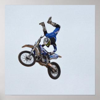 Motocross Flying High Poster