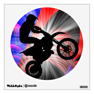 Motocross Going Loopy Wall Decal