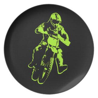Motocross green plate