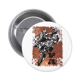 Motocross Grunge Button