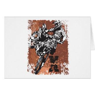 Motocross Grunge Card