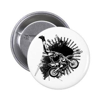 Motocross Grunge Jump Pin