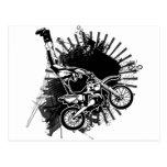 Motocross Grunge Jump Postcard