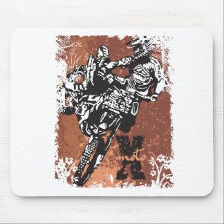 Motocross Grunge Mouse Pad