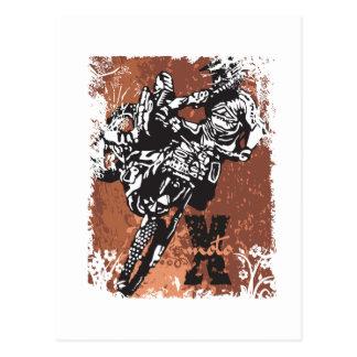 Motocross Grunge Postcard
