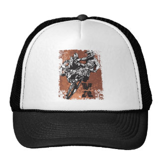 Motocross Grunge Trucker Hat