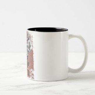 Motocross Grunge Two-Tone Coffee Mug