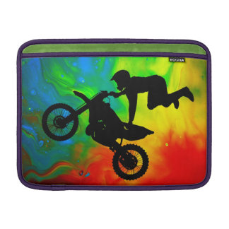 Motocross in a Solar Flare Up MacBook Sleeve