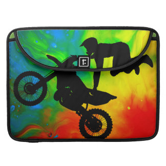 Motocross in a Solar Flare Up Sleeve For MacBooks