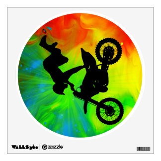 Motocross in a Solar Flareup Wall Decal