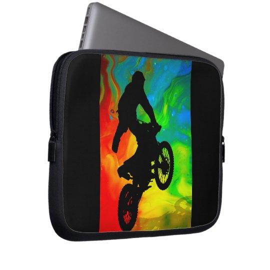 Motocross in a Solar Meltdown Laptop Sleeve