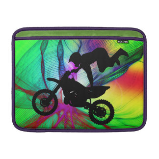 Motocross in Psychedelic Spider Web Sleeve For MacBook Air