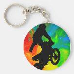 Motocross in Solar meltdown Keychain