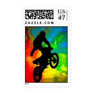 Motocross in Solar meltdown Stamp