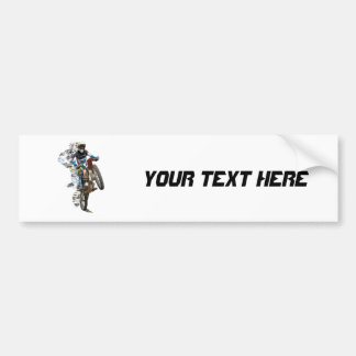Motocross in the Desert with Flying Pieces Bumper Sticker