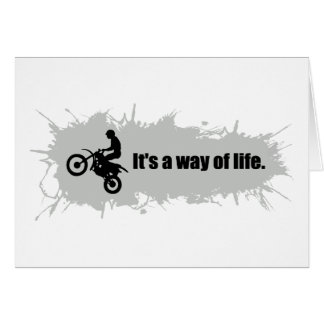 Motocross is a Way of Life Card