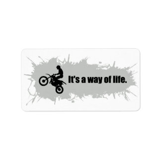 Motocross is a Way of Life Label