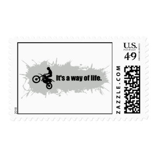 Motocross is a Way of Life Postage Stamps
