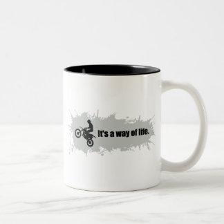 Motocross is a Way of Life Two-Tone Coffee Mug