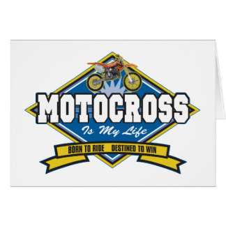 Motocross is My Life Card