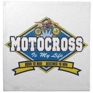 Motocross is My Life Cloth Napkins