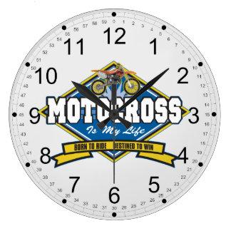 Motocross is My Life Large Clock