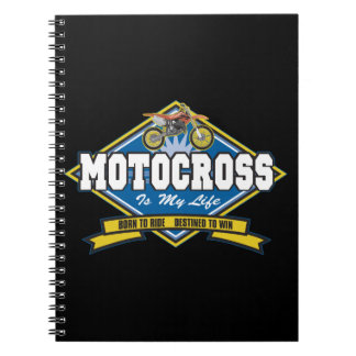 Motocross is My Life Spiral Notebook