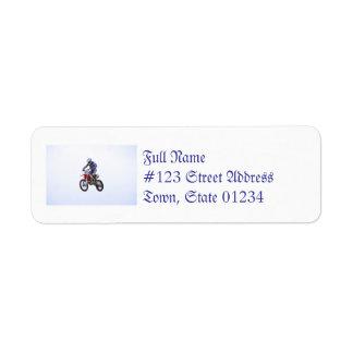 Motocross Jump Return Address Label