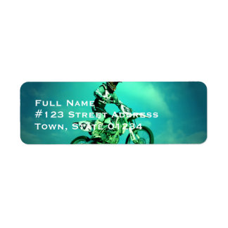 Motocross Jump Mailing Labels