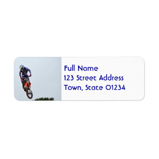 Motocross Custom Return Address Labels