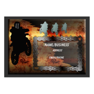 motocross large business cards (Pack of 100)