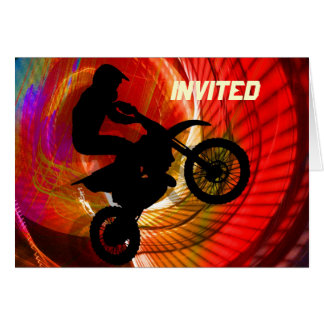 Motocross Light Streaks in a Windtunnel Card