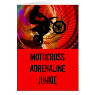 Motocross Light Streaks in a Windtunnel Greeting Card