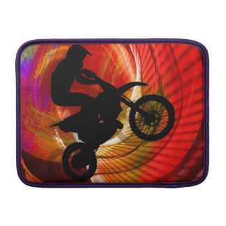 Motocross Light Streaks in a Windtunnel MacBook Sleeve
