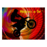 Motocross Light Streaks in a Windtunnel Posters