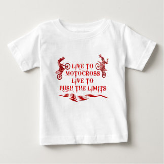 Motocross live to push the limits! baby T-Shirt