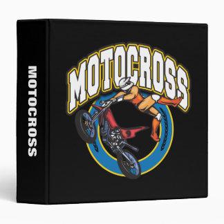 Motocross Logo 3 Ring Binder