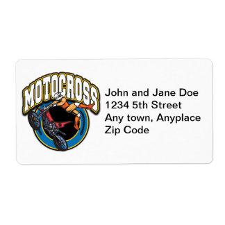 Motocross Logo Label