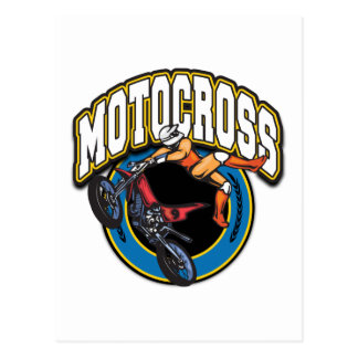 Motocross Logo Postcard