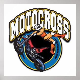Motocross Logo Print