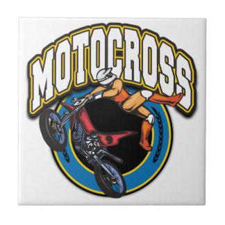 Motocross Logo Small Square Tile