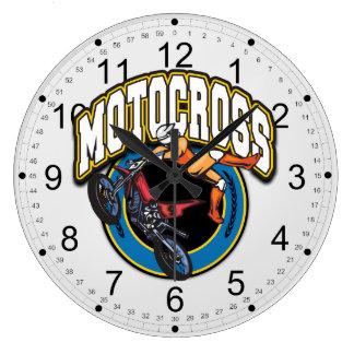 Motocross Logo Wall Clocks