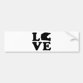Motocross love bumper sticker