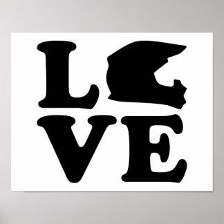 Motocross love poster